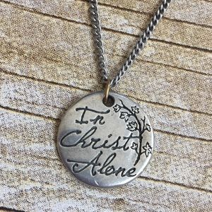 In Christ Alone hymn pendant necklace